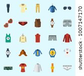 icons set about man clothes.... | Shutterstock .eps vector #1007147170