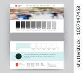 vector website design template | Shutterstock .eps vector #1007147458