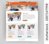 vector website design template | Shutterstock .eps vector #1007147998