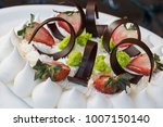 elegant desserts display in a... | Shutterstock . vector #1007150140