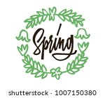 spring hand drawn lettering....   Shutterstock .eps vector #1007150380