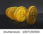 bitcoin 3d illustration | Shutterstock . vector #1007150500