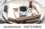 book with a cup of coffee on a... | Shutterstock . vector #1007150830