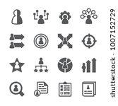 skill ability icon set | Shutterstock .eps vector #1007152729