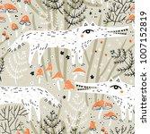 vector seamless pattern with... | Shutterstock .eps vector #1007152819