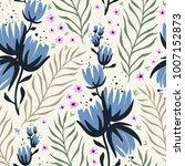 vector floral seamless pattern... | Shutterstock .eps vector #1007152873