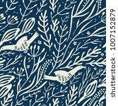 vector floral seamless pattern... | Shutterstock .eps vector #1007152879