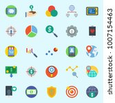 icons set about marketing. with ... | Shutterstock .eps vector #1007154463