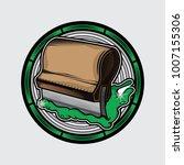 vector logo screen printing... | Shutterstock .eps vector #1007155306