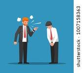 boss or business leader feeling ... | Shutterstock .eps vector #1007158363