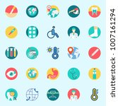 icons set about medical. with... | Shutterstock .eps vector #1007161294