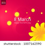 8 march. floral greeting card.... | Shutterstock .eps vector #1007162590