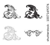 classical baroque vector set of ... | Shutterstock .eps vector #1007169376