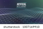 background 3d grid. ai tech... | Shutterstock .eps vector #1007169910