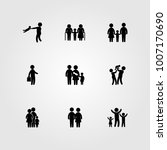 humans icon set vector. child ... | Shutterstock .eps vector #1007170690