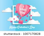 love and valentine day card... | Shutterstock .eps vector #1007170828