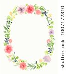 beautiful vector wreath.... | Shutterstock .eps vector #1007172310