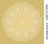 ornamental round lace frame.... | Shutterstock .eps vector #100717390