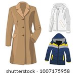 isolated coat and jacket | Shutterstock .eps vector #1007175958