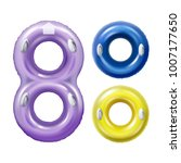 vector colored swim rings with... | Shutterstock .eps vector #1007177650