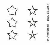 star icon set on white... | Shutterstock .eps vector #1007181064