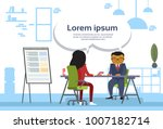 asian business man and woman... | Shutterstock .eps vector #1007182714