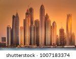 modern buildings of dubai... | Shutterstock . vector #1007183374