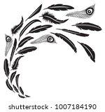 feathers in flight vector...   Shutterstock .eps vector #1007184190