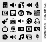 multimedia icon set vector.... | Shutterstock .eps vector #1007185468