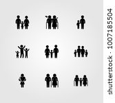 humans icon set vector. father  ... | Shutterstock .eps vector #1007185504