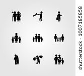 humans icon set vector.... | Shutterstock .eps vector #1007185858