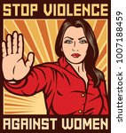 stop violence against women...   Shutterstock .eps vector #1007188459