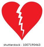 broken heart vector illustration   Shutterstock .eps vector #1007190463