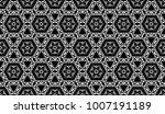 black and white seamless... | Shutterstock . vector #1007191189