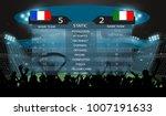 soccer stadium with football... | Shutterstock .eps vector #1007191633