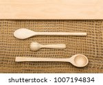 rustic burlap background with... | Shutterstock . vector #1007194834