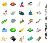 pennant icons set. isometric... | Shutterstock .eps vector #1007196568