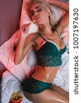 beauty. beautiful sexy young... | Shutterstock . vector #1007197630