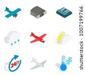 aviation equipment icons set.... | Shutterstock .eps vector #1007199766