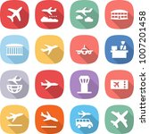 flat vector icon set   plane... | Shutterstock .eps vector #1007201458