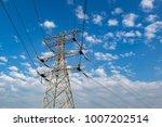 high voltage post.high voltage...   Shutterstock . vector #1007202514