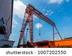 gantry bridge crane for cargo...   Shutterstock . vector #1007202550