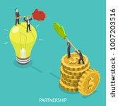 business partnership isometric...   Shutterstock .eps vector #1007203516