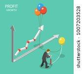profit growth flat isometric... | Shutterstock .eps vector #1007203528