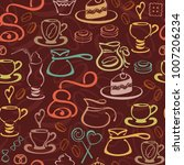 seamless pattern with vector... | Shutterstock .eps vector #1007206234