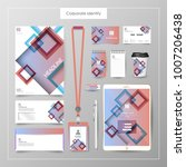 corporate identity template... | Shutterstock .eps vector #1007206438