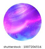 vector illustration of violet... | Shutterstock .eps vector #1007206516