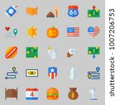 icons set about united states.... | Shutterstock .eps vector #1007206753