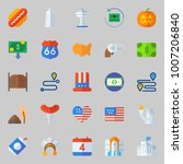 icons set about united states.... | Shutterstock .eps vector #1007206840