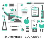 vector set of dentist icons and ... | Shutterstock .eps vector #100720984